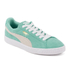 Puma Women's Suede Classic Low Top Trainers - Green/White: Image 4