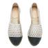 Loeffler Randall Women's Mara Perforated Espadrilles - Silver/Black: Image 2