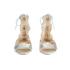 Loeffler Randall Women's Dani Front Tie Sandals - Silver: Image 4