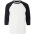 Alexander Wang Men's Raw Edge Patched Baseball 3/4 Sleeve T-Shirt - Matrix: Image 1