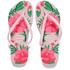 Havaianas Women's Slim Floral Flip Flops - Crystal Rose: Image 1