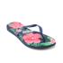 Havaianas Women's Slim Floral Flip Flops - Navy Blue: Image 3