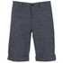 J.Lindeberg Men's Linen Mix Shorts - Navy: Image 1