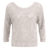 ONLY Women's Noah Short Knitted Pullover - Cloud Dancer: Image 1