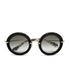 Miu Miu Women's Round Crystal Sunglasses - Black: Image 1