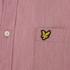 Lyle & Scott Vintage Men's Long Sleeve End On End Shirt - Ruby: Image 3