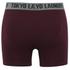 Tokyo Laundry Men's Kings Cross 2 Pack Button Boxers - Black/Oxblood: Image 5