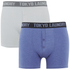 Tokyo Laundry Men's Kings Cross 2 Pack Button Boxers - Optic White/Cornflower Blue: Image 1