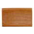 Aspinal of London Travel Wallet - Tan Croc: Image 5