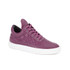 Filling Pieces Women's Stripe Quilted Low Top Leather Trainers - Purple: Image 4