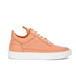 Filling Pieces Women's Stripe Quilted Low Top Leather Trainers - Orange: Image 1