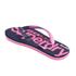 Superdry Women's Scuba Flip Flops - French Navy/Fluro Pink: Image 4