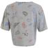 Carhartt Women's Lucile Short Sleeved Scribble Print Crop T-Shirt - Grey Heather: Image 2