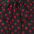 McQ Alexander McQueen Women's Overlocked Pussy Blouse - Red/Black: Image 3