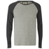 Brave Soul Men's Osbourne Raglan Long Sleeve Top - Light Grey Marl: Image 1