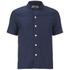 Folk Men's New Piano Short Sleeve Shirt - Navy Texture: Image 1