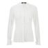 Karl Lagerfeld Women's Silk Ruffle Cuff Blouse - White: Image 1