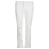 Karl Lagerfeld Women's Distressed Boyfriend Denim Jeans - White: Image 1