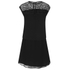 Karl Lagerfeld Women's Mesh Panelled Dress - Black: Image 2