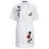 Karl Lagerfeld Women's Tropical Patches Poplin Tunic Dress - White: Image 1