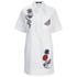 Karl Lagerfeld Women's Tropical Patches Poplin Tunic Dress - White: Image 1