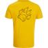 Jack Wolfskin Men's Paw T-Shirt - Burley Yellow: Image 2