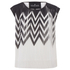 Designers Remix Women's Tilt Graphic Top - Black/White: Image 1