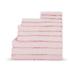 Highams 100% Egyptian Cotton 10 Piece Towel Bale (550gsm) - Pink: Image 1