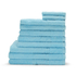 Highams 100% Egyptian Cotton 10 Piece Towel Bale (550gsm) - Sky: Image 1