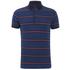 Tommy Hilfiger Men's Barney Striped Polo Shirt - Dark Indigo: Image 1