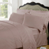 Highams 100% Egyptian Cotton Plain Dyed Bedding Set - Vintage Pink [China Sizing Only]: Image 1