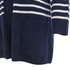Cocoa Cashmere Women's Striped Cardigan - Navy/White: Image 3