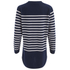 Cocoa Cashmere Women's Striped Cardigan - Navy/White: Image 2