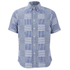 Edwin Men's Short Sleeve Patchwork Shirt - Blue: Image 1