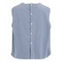 Maison Kitsuné Women's Holly Chambray Flared Top - Chambray: Image 2