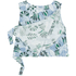 Maison Kitsuné Women's Ana Hibiscus Wrap Around Top - Emerald Sky: Image 2