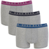 BOSS Hugo Boss Men's 3 Pack Boxer Shorts - Grey: Image 1
