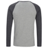 Brave Soul Men's Rasmus Grandad Long Sleeved Top - Light Grey/Charcoal: Image 2