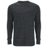 Brave Soul Men's Dalius Zip Pocket Long Sleeved Top - Black Marl: Image 1