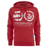 Crosshatch Men's Arowana Hoody - High Red: Image 1