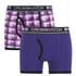 Crosshatch Men's Pixflix 2-Pack Boxers - Purple: Image 1