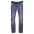 Crosshatch Men's New Embossed Techno Straight Fit Jeans - Stone Wash: Image 1