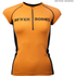Better Bodies Women's Zipped T-Shirt - Orange: Image 1