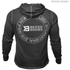 Better Bodies Men's Long Sleeve Cover Up Hoody - Black: Image 2