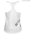 Better Bodies Women's Leisure Raw T-Back Tank Top - Off White: Image 2