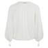 Munthe Women's Equal Sheer Tassel Detailed Blouse - Ivory: Image 2