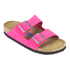 Birkenstock Women's Arizona Slim Fit Suede Double Strap Sandals - Pink: Image 3
