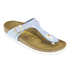 Birkenstock Women's Gizeh Shiny Snake Toe-Post Sandals - Sky: Image 3