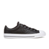 Converse Men's CONS Star Player Perforated Leather Trainers - Black/White: Image 1