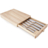 Living ARG1377464 5 Piece Wooden Knife Set with Drawer - Stainless Steel: Image 2